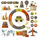 infographic平的样式的旅行 库存图片