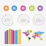 Infographic Fotografie Stock