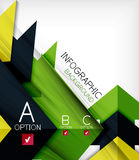 Infographic abstract background Stock Photo