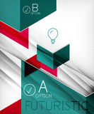 Infographic abstract background Stock Images