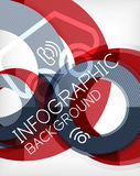 Infographic abstract background Royalty Free Stock Photography