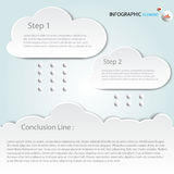 Infographic Abstract clouds . Vector illustrat Vector illustration. can be used for workflow layout, diagram, business step option Stock Photos