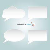 Infographic Abstract clouds . Vector illustration Royalty Free Stock Photos