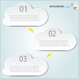 Infographic Abstract clouds . Vector illustration Royalty Free Stock Image
