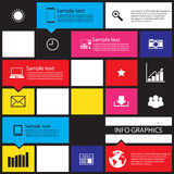 Infographic abstract connection with icons ,Illustration eps 10 Stock Photography