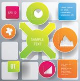 Infographic Abstract figure. Green Infographic Abstract figure with numbers and icons Stock Images