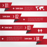 Infographic Abstract pointer . Vector illustration Royalty Free Stock Photo