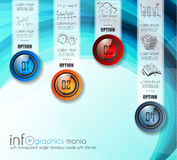Infographic Abstract template with multiple choices glass buttons Stock Images