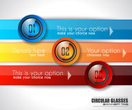 Infographic Abstract template with multiple choices glass buttons Stock Image