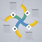 Infographic abstracte ster Modern vectorontwerpmalplaatje Vector illustratie Stock Foto