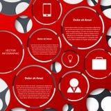 Infographic abstrait. Calibre de conception moderne illustration stock