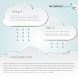 Infographic abstrakta chmury Wektorowa illustrat wektoru ilustracja może używać dla obieg układu, diagram, biznesowa krok opcja Zdjęcia Stock