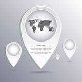 Infographic abstrakta pointer również zwrócić corel ilustracji wektora Obraz Royalty Free