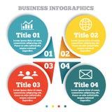 Infographic affärscirkel, diagram, diagram royaltyfri illustrationer