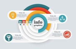 Infographic affärscirkel, diagram, diagram stock illustrationer