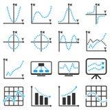 Infographic affärssymboler för prickig vektor royaltyfri illustrationer