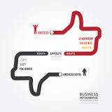 Infographic affär rutt till designen för framgångbegreppsmall Royaltyfri Bild