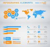 infographic affärselemnts Arkivfoto