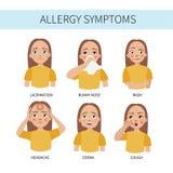 Infographic allergi vektor stock illustrationer