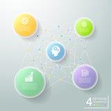 Infographic 5 alternativ för abstrakt cirkel 3d, infographic affärsidé Arkivfoton