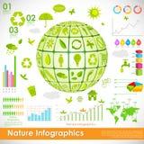 Infographic ambiental Fotografia de Stock Royalty Free