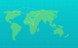 Infographic Animation der Weltkarte stock footage