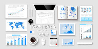 Infographic ans statistic Concepts. Vector Stock Photography