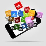 Infographic applications Royalty Free Stock Images