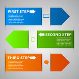 Infographic Arrow Banners Royalty Free Stock Images