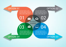 Infographic arrow business template. Modern infographic arrow business template. Business concept with 4 options, parts, steps or processes. Can be used for Royalty Free Stock Photos