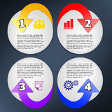 Infographic arrow and circle. Infographic option vector template arrow and circle Stock Photos