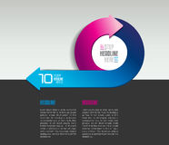 Infographic arrow circle template, diagram, chart with text fields. Stock Photography