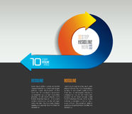 Infographic arrow circle template, diagram, chart with text fields. Stock Photos