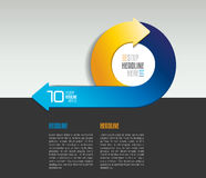 Infographic arrow circle template, diagram, chart with text fields. Royalty Free Stock Photography