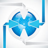 Infographic arrow diagram chart Stock Images