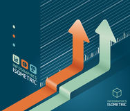 Infographic arrow diagram chart. Detailed Royalty Free Stock Image
