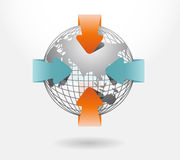 Infographic arrow diagram chart. Detailed Royalty Free Stock Images