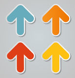 Infographic Arrow Icon. Vector Illustration. Royalty Free Stock Image