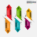Infographic arrow step vector design template. Can be used for workflow, stair success, diagram, infographic banner, number options, design, infographic Royalty Free Stock Photo