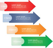 Infographic arrows for business design. Vector Stock Photo