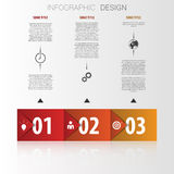 Infographic arrows with icons. Origami concept Royalty Free Stock Photos