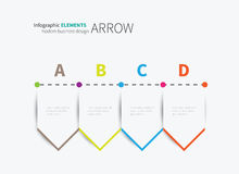 Infographic arrows options template Royalty Free Stock Photos