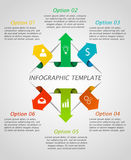 Infographic arrows template. Modern arrow origami style number options banner. Vector illustration. Can be used for workflow layout, diagram, number and step Stock Illustration