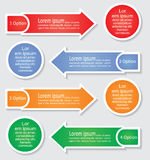 Infographic arrows templates. Vector illustration Stock Photography