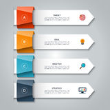 Infographic arrows. Vector template with 4 options, steps, parts. Infographic arrows. Vector template for business infographics with 4 options, steps, parts royalty free illustration