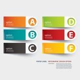 Infographic-Aufkleber-Vorsprungsschablone Lizenzfreie Stockfotos