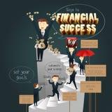 Infographic av vägar till finansiell framgång Royaltyfri Foto