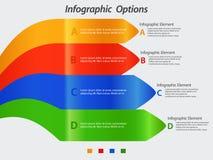 Infographic avec les flèches incurvées Photo libre de droits