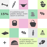 Infographic background. Full-color icons healthy lifestyle Royalty Free Illustration
