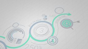 Infographic background in blue-green colors. 4K royalty free illustration